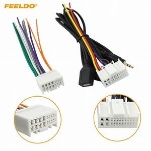 Feeldo 5set Car Audio Cd Stereo Wiring Harness Adapter