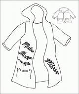 Coloring Winter Clothes Popular sketch template