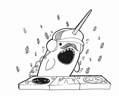 Narwhal Coloring Pages Funny Narwhals Dancing Fun