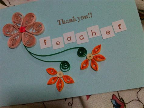 handmade  love  ain teachers day card