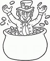 Coloring Leprechaun Gold Coins Pages Pot Butthead Beavis Clipart Rainbow Printable Gremlin Patrick St Super Colorings Getcolorings Popular Clip sketch template
