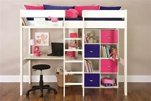 Kinderhochbett Mit Schreibtisch : kinder hochbett mit schreibtisch und lagerschr nken ausgestattet ~ Indierocktalk.com Haus und Dekorationen