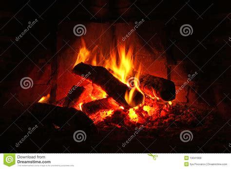Logs Burning In Fireplace Stock Image Image Of Glowing