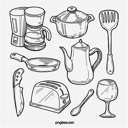 Line Pot Clipart Kitchen Spoon Pngtree