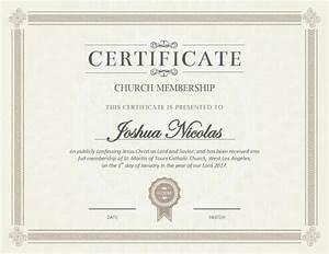 5 Certificate of Membership Templates [free ]
