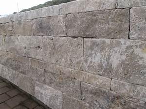 Steine Für Gartenmauer Preis : travertin mauer mauersteine gartenmauer grau ~ Michelbontemps.com Haus und Dekorationen