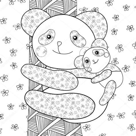 Dierenmasker Kleurplaat Panda by Panda Kid Fotoboekpagina Kleurplaten Stockvector