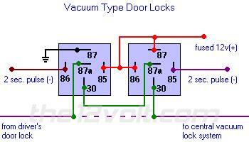 door locks vacuum type type  relay wiring diagram
