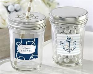 nautical theme personalized mason jars with lids set of 12 With custom mason jar lids