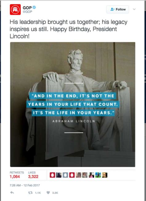 foto de GOP mistakenly tweets fake Abraham Lincoln quote Internet