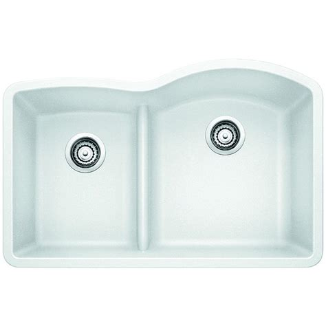 low divide kitchen sink blanco undermount composite 32 in 1 3 4 reverse