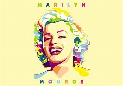 Monroe Marilyn Vector Portrait Popart Pop Vectors