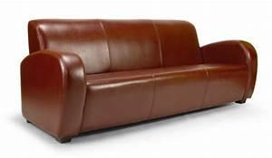 canape club soledad 3 places en cuir au choix With canape classique cuir