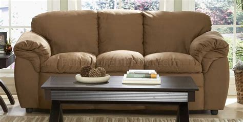 Contemporary Microfiber Sofa by 9937br Modern Sofa Loveseat In Brown Microfiber Plush By