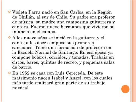 Biografia De Resumen by Biograf 237 A Violeta Parra