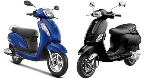 Suzuki Access Review by Vespa Sxl150 Vs Suzuki New Access 125 Comparison Review
