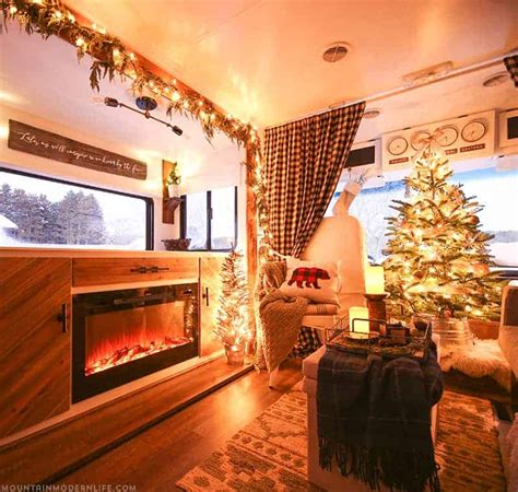 rv christmas home  mountainmodernlifecom