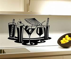 Wand Glas Küche : wandtattoo cocktail glas bar deko k che wand sticker aufkleber wandbild m belaufkleber auto ~ Sanjose-hotels-ca.com Haus und Dekorationen