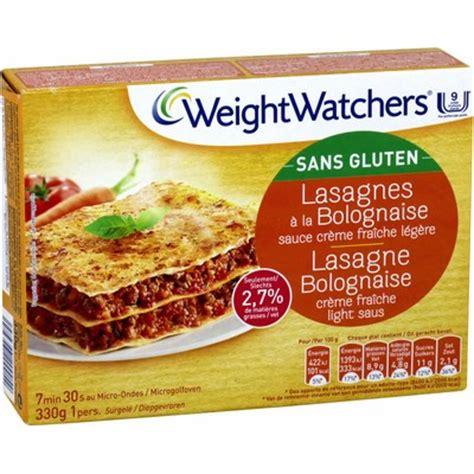 plat cuisiné weight watcher plat cuisiné lasagnes bolognaise s gluten weight watchers