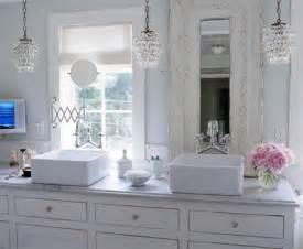 Chandelier Over Bathroom Vanity shabby chic bathroom cottage bathroom elle decor