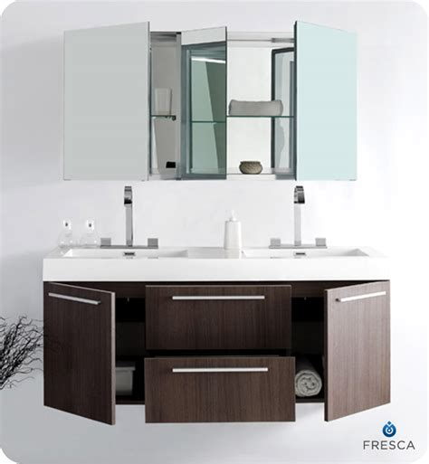 designer bathroom vanity cabinets fresca opulento gray oak modern double sink bathroom