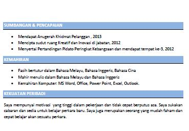 contoh resume kerja part time fuhh contoh resume ringkas dan padat