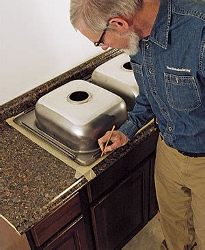how to cut kitchen countertop for sink cut a laminate countertop for a sink homebuilding 9371