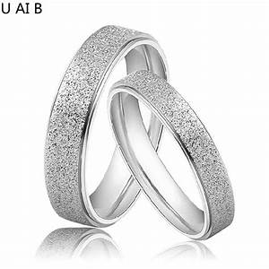 matte titanium rings 1 couple couple wedding rings pair With wholesale mens wedding rings