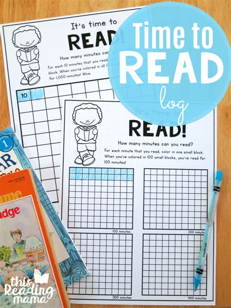 Time To Read Printable Reading Log  This Reading Mama