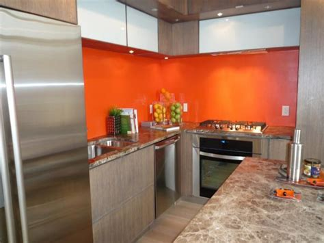 Kuche Orange by Modern Orange Tile For Kitchen Backsplash Orange Kitchen
