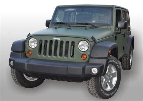 jeep wrangler military green oklejanie samochodów jeep wrangler zielony mat military