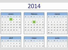 Calendario 2014 en Excel Excel Total