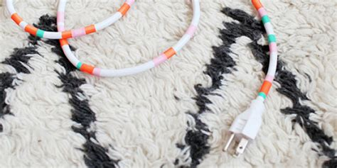 power cord hider hide your power cords with these diys huffpost