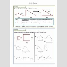 Similar Shapes Worksheet (scale Factors) By Adz1991  Teaching Resources