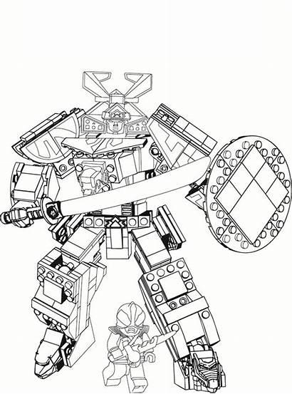 Rangers Coloring Power Pages Ranger Megazord Samurai