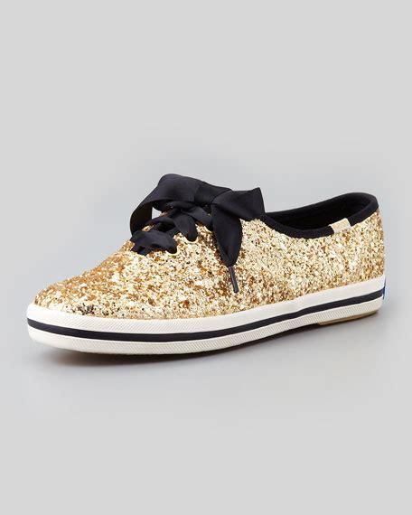 keds wh57728 gold kate spade new york keds glitter sneaker gold