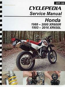 Honda Xr600r    Xr650l Service Manual  1988