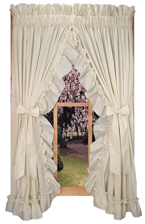 shabby chic curtains ruffled curtains country ruffle