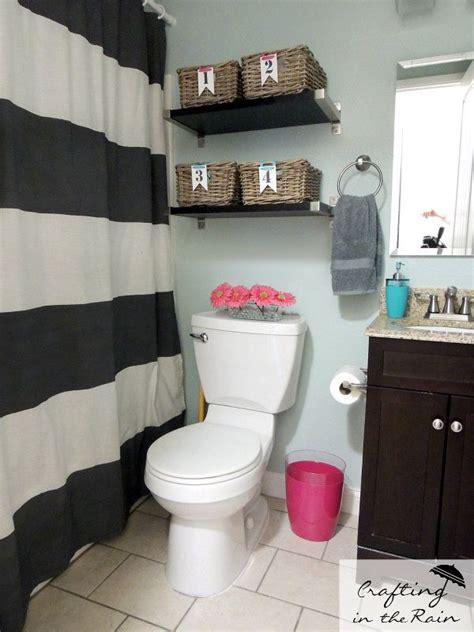 small bathroom shower curtain ideas small bathroom ideas crafting in the horizontal