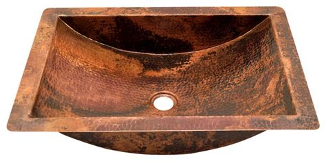 copper undermount kitchen sinks rectangular undermount bathroom copper sink rustic 5807