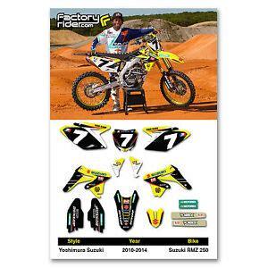 2010 2016 suzuki rmz 250 yoshimura dirt bike graphics kit motocross decals