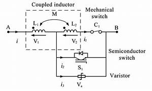 Hybrid Dc Circuit Breaker With Coupled Inductor Schematic