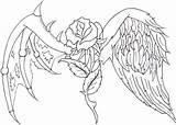 Wings Drawing Heart Coloring Cross Crosses Jesus Drawings Tattoo Angel Cool Hearts Rose Sketches Adult Draw Dessins Sketch Dessin Mandala sketch template