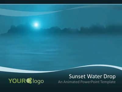 deep eyes template water drop a powerpoint template from presentermedia
