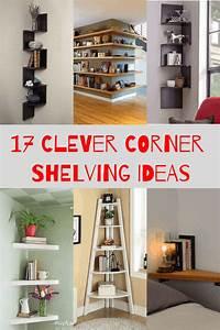 17, Clever, Corner, Shelving, Ideas