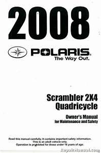 2008 Polaris Scrambler 500 2x4 International Owners Manual