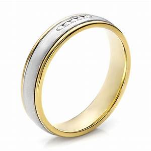 women39s two tone gold and diamond wedding band 100156 With two tone wedding rings for women