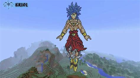 minecraft pixel art broly el saiyan legendario