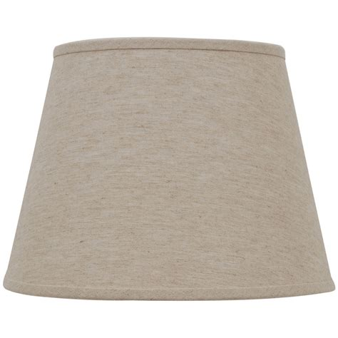 linen drum l shade shop allen roth 11 in x 15 in natural linen fabric drum