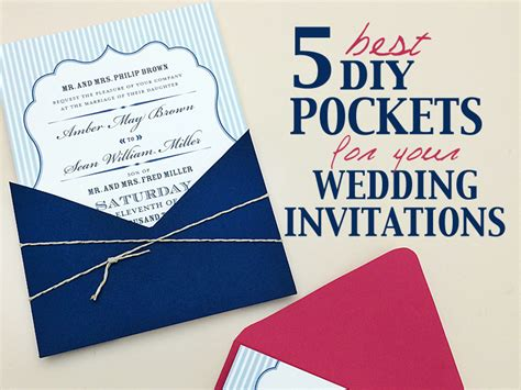 Best DIY Pocketfolds for your Wedding Invitations
